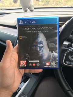 Ps4 games : shadow of mordor