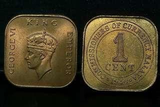 Malaya KGVi 1cent. 1940 *Unc*
