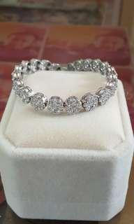 Diamond Tennis Illusion Bracelet 18kgold