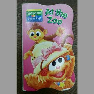 2x English children books for age 2 kids At the zoo + number 3
