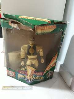 Might Morphin' Power Rangers electronic White Ranger power fighter (1995)