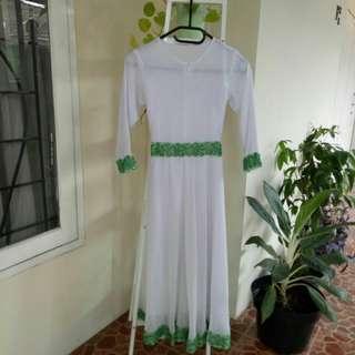 Gamis dress anak perempuan warna putih