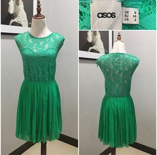 ASOS Green Lace Dress