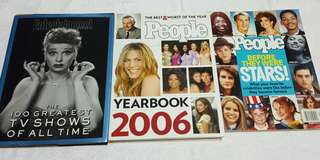 3 Commemorative Books/Mags People and Entertainment
