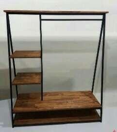 Aneka Rak / Furniture besi dan kayu ala industrial
