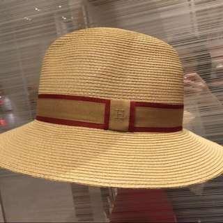 Hermes 手工原色草編帽
