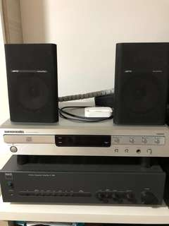 Hi-Fi CD Player, Stereo Integrated Amplifier and Jamo Surround Rear