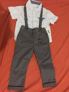 Polo and pants terno for baby boy