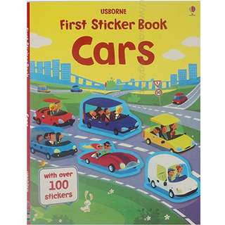 Usborne First Sticker Book - Cars ( All Paperback Books and Brand New )