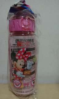 Brand New Minne Mouse Drinking Water Straw Bottle # 450ml