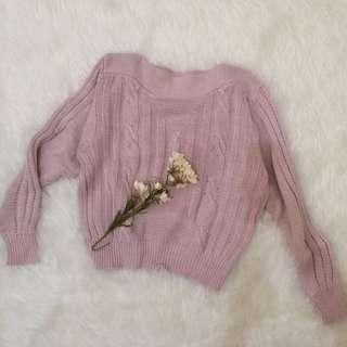 Pink Oversized Knit Sweater