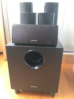 Onkyo SKS 390 speakers and woofer 5.1