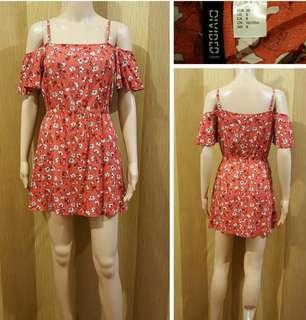 H&M Floral Off Shoulder Dress