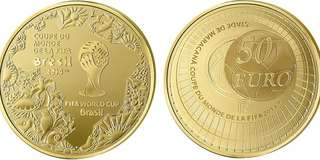 New Domed Coins for 2014 FIFA World Cup Brazil  Gold and silver.