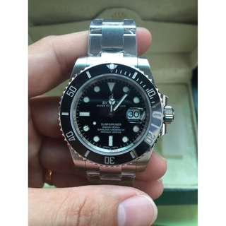 Rolex Submariner Black Ceramic Bezel Swiss Engine 3135