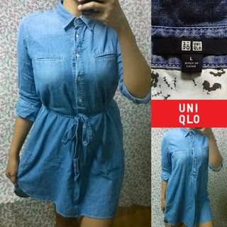 UniqloBelted Soft Denim Dress