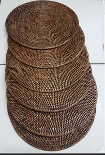 Handcrafted Rattan Placemat set