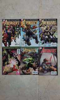 """Avengers: The Initiative (Marvel Comics 6 Issues, #1 to 6, complete story arc on """"Basic Training"""")"""