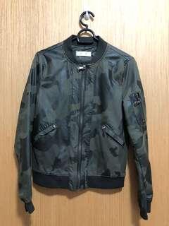 Camouflage Fake Leather Jacket
