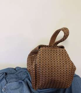 韓國 藤籃兩用袋
