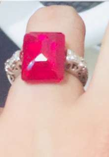 Certified Myanmar Ruby Ring