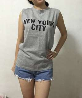 Grey New York City casual t shirt