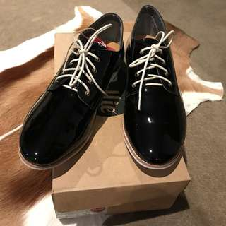 [BNWT - NEW] Rollienation Black Patent Leather Derby Shoes