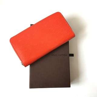 EXCELLENT Preloved Authentic LV Zippy Wallet Epi Piment 2012