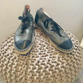 Witchery Leather Harper Espadrilles Ankle Boots Size 39