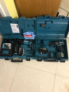 電池油壓鑽+電池電批18v