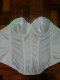 White plain corset