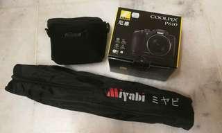 Nikon Coolpix P610 + Tripod