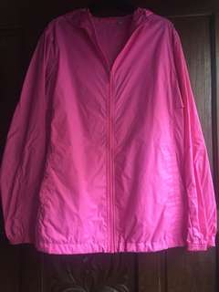 💛Hot Pink Raincoat Jacket