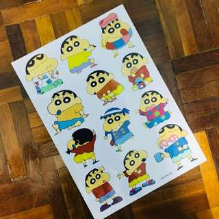 A4 size Shin Chan Sticker