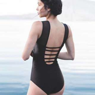 Loisa See Trough Plain One Piece Swimwear
