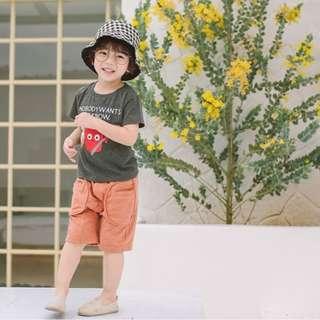 好版型竹節棉中褲(橘140)