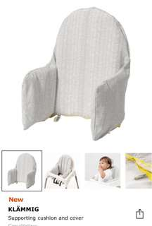 Supporting cushion and cover for Ikea high chair