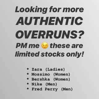 Authentic Overruns