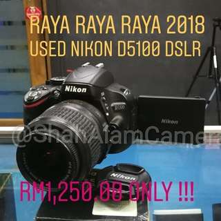 (USED) NIKON D5100 DSLR CAMERA WITH LENS