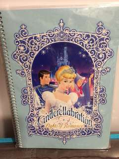 BRAND NEW IN PACK! Official Tokyo Disneyland Cinderella Cinderellabration Lights Of Romance Notebook