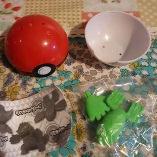 扭蛋 寵物小精靈 精靈寶可夢 Pokemon 擦膠