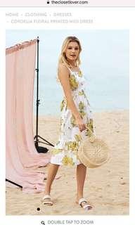 TCL Cordelia Floral Printed Midi Dress S