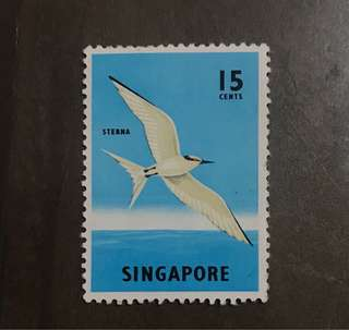 Singapore stamps 1962 bird 15c 1v Mint (slight fault)