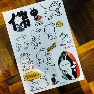 A4 size Tuzki Sticker