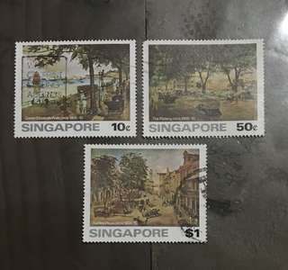 Singapore stamps 1976 arts 3v used