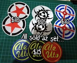 Safety reflective stickers / decals for your tool tubes / mega tubes / nano tubes / top cases / side panniers...