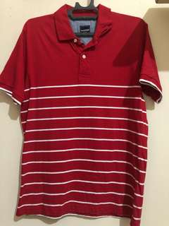 Polo shirt Stripes Red