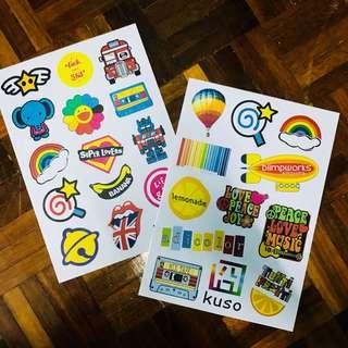 A4 size Cute Item Sticker