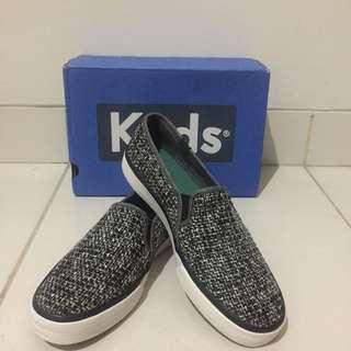 Keds Double Decker Sequin Knit Slip Black