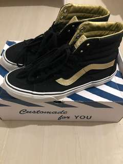 VANS SK8 HIGH Black and Gold 50th Anniversary